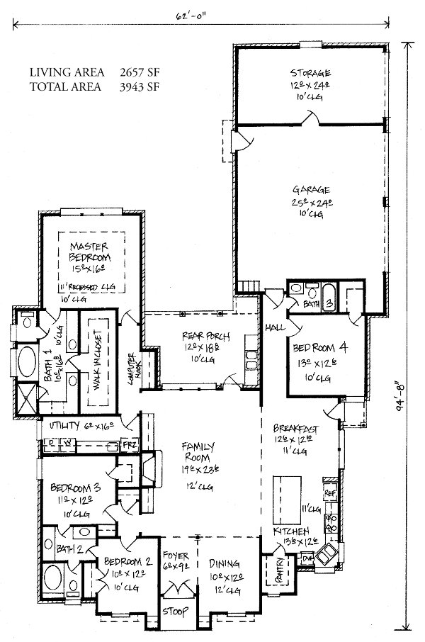 Louisiana home floor plans for Louisiana house plans