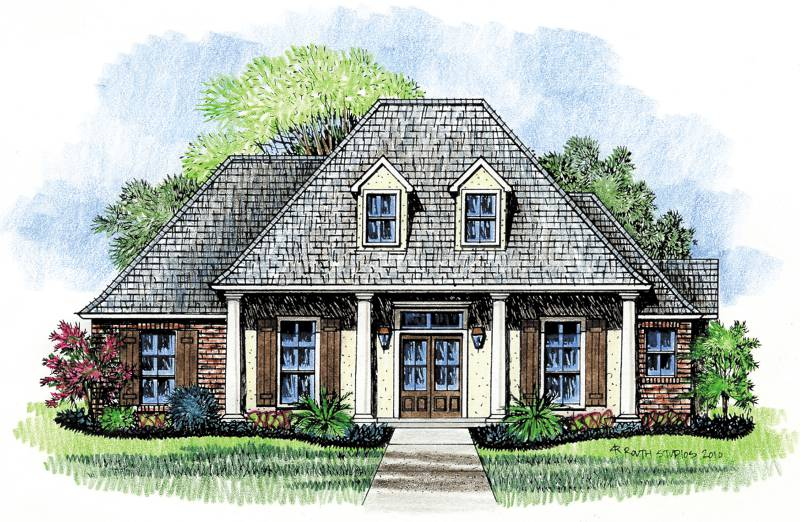 Livingston kabel for 2 story acadian house plans