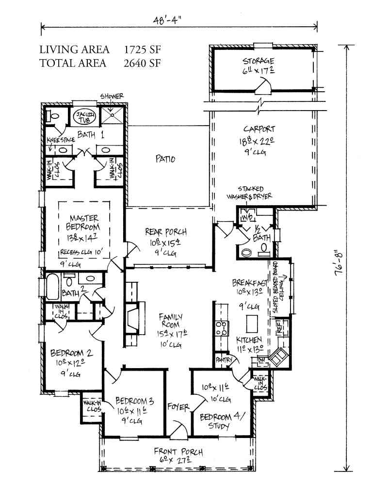 Tickfaw kabel 2 story acadian house plans